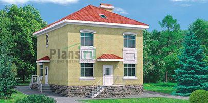 Проект двухэтажного дома 11x8 метров, общей площадью 131 м2, из керамических блоков, со вторым светом, c котельной и кухней-столовой