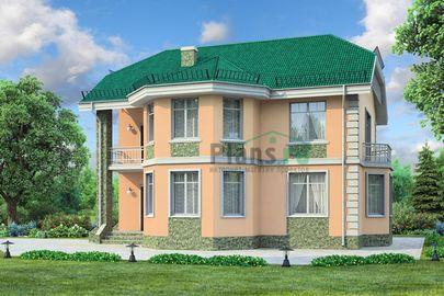 Проект двухэтажного дома 12x10 метров, общей площадью 136 м2, из газобетона (пеноблоков), c котельной и кухней-столовой