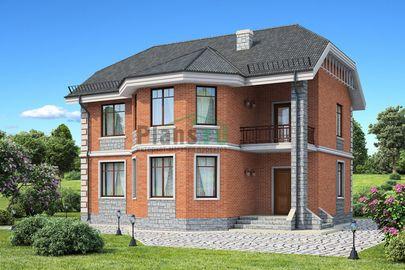 Проект двухэтажного дома 12x10 метров, общей площадью 136 м2, из кирпича, c котельной и кухней-столовой