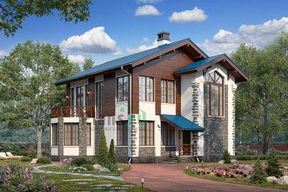 Проект двухэтажного дома 12x10 метров, общей площадью 180 м2, из газобетона (пеноблоков), c котельной и кухней-столовой