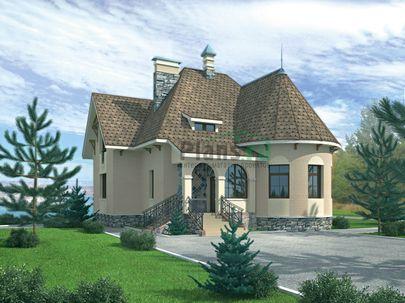 Проект двухэтажного дома 12x11 метров, общей площадью 214 м2, из керамических блоков
