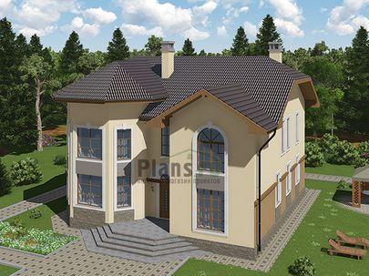 Проект двухэтажного дома 12x11 метров, общей площадью 233 м2, из керамических блоков, c котельной и кухней-столовой
