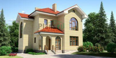 Проект двухэтажного дома 12x13 метров, общей площадью 157 м2, из кирпича, c котельной и кухней-столовой