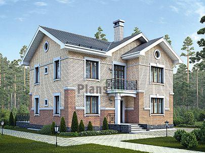 Проект двухэтажного дома 12x13 метров, общей площадью 161 м2, из газобетона (пеноблоков), c террасой, котельной и кухней-столовой