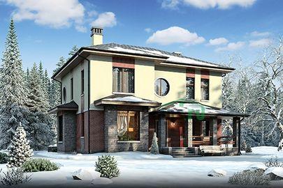Проект двухэтажного дома 12x13 метров, общей площадью 192 м2, из керамических блоков, c котельной и кухней-столовой