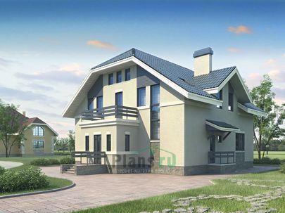Проект двухэтажного дома 12x13 метров, общей площадью 221 м2, из газобетона (пеноблоков), c котельной и кухней-столовой