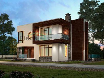 Проект двухэтажного дома 12x13 метров, общей площадью 221 м2, из газобетона (пеноблоков), c террасой, котельной, лоджией и кухней-столовой