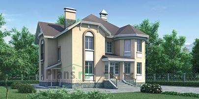 Проект двухэтажного дома 12x13 метров, общей площадью 230 м2, из газобетона (пеноблоков), c котельной и кухней-столовой