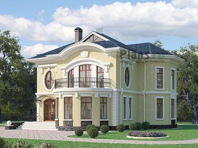 Проект двухэтажного дома 12x14 метров, общей площадью 175 м2, из кирпича, c террасой, котельной и кухней-столовой