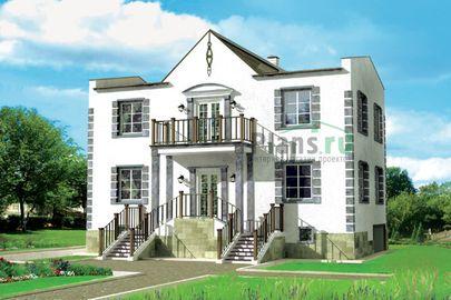 Проект двухэтажного дома 12x7 метров, общей площадью 189 м2, из газобетона (пеноблоков)