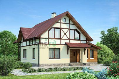 Проект двухэтажного дома 12x9 метров, общей площадью 137 м2, из газобетона (пеноблоков), c кухней-столовой