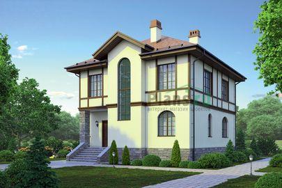 Проект двухэтажного дома 12x9 метров, общей площадью 146 м2, из кирпича, c котельной и кухней-столовой