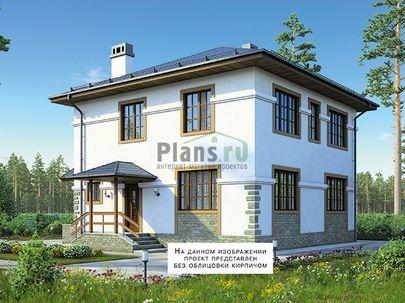Проект двухэтажного дома 12x9 метров, общей площадью 150 м2, из газобетона (пеноблоков), c котельной и кухней-столовой