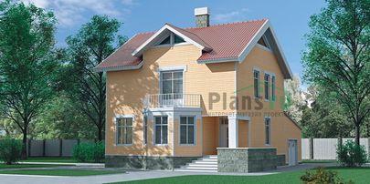Проект двухэтажного дома 12x9 метров, общей площадью 154 м2, из газобетона (пеноблоков), c гаражом и котельной