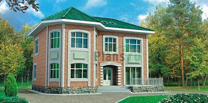 Проект двухэтажного дома 13x10 метров, общей площадью 172 м2, из кирпича, c котельной и кухней-столовой