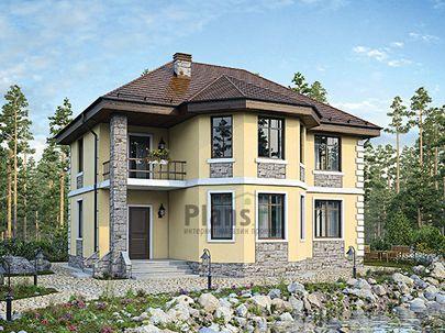 Проект двухэтажного дома 13x10 метров, общей площадью 177 м2, из газобетона (пеноблоков), c котельной и кухней-столовой
