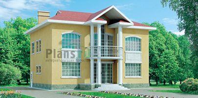 Проект двухэтажного дома 13x10 метров, общей площадью 187 м2, из кирпича, со вторым светом, c котельной