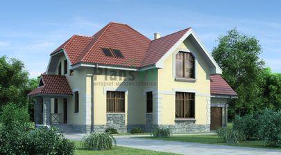 Проект двухэтажного дома 13x10 метров, общей площадью 192 м2, из керамических блоков, c гаражом, котельной и кухней-столовой