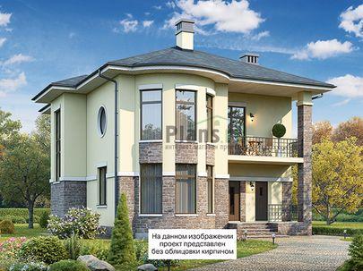 Проект двухэтажного дома 13x10 метров, общей площадью 207 м2, из керамических блоков, c террасой, котельной и кухней-столовой