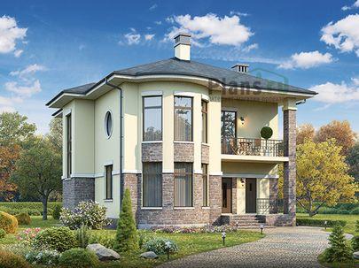 Проект двухэтажного дома 13x11 метров, общей площадью 160 м2, из керамических блоков, c котельной и кухней-столовой