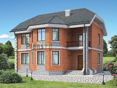Проект двухэтажного дома 13x11 метров, общей площадью 166 м2, из кирпича, c котельной и кухней-столовой