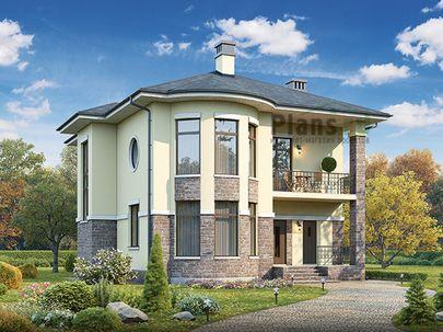Проект двухэтажного дома 13x11 метров, общей площадью 167 м2, из газобетона (пеноблоков), c котельной и кухней-столовой