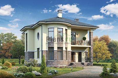 Проект двухэтажного дома 13x11 метров, общей площадью 182 м2, из газобетона (пеноблоков), c котельной и кухней-столовой