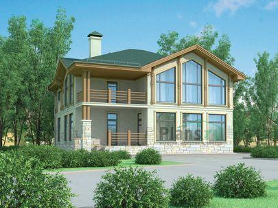 Проект двухэтажного дома 13x11 метров, общей площадью 185 м2, из керамических блоков, c котельной и кухней-столовой