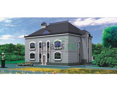 Проект двухэтажного дома 13x11 метров, общей площадью 280 м2, из керамических блоков, c котельной и кухней-столовой
