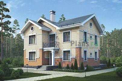 Проект двухэтажного дома 13x12 метров, общей площадью 158 м2, из керамических блоков, c террасой и котельной