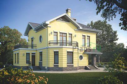 Проект двухэтажного дома 13x12 метров, общей площадью 165 м2, из газобетона (пеноблоков), c котельной и кухней-столовой