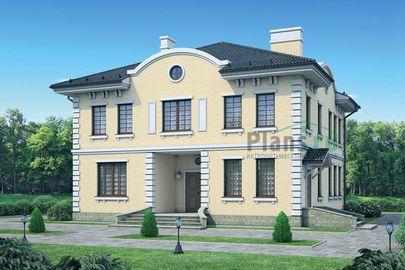 Проект двухэтажного дома 13x12 метров, общей площадью 205 м2, из газобетона (пеноблоков), c котельной и кухней-столовой