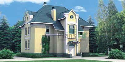 Проект двухэтажного дома 13x12 метров, общей площадью 209 м2, из газобетона (пеноблоков), c котельной и кухней-столовой
