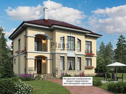 Проект двухэтажного дома 13x12 метров, общей площадью 216 м2, из керамических блоков, c террасой, котельной, лоджией и кухней-столовой