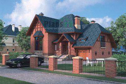 Проект двухэтажного дома 13x12 метров, общей площадью 239 м2, из газобетона (пеноблоков), со вторым светом, c гаражом и котельной