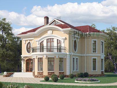 Проект двухэтажного дома 13x14 метров, общей площадью 186 м2, из керамических блоков, c террасой, котельной и кухней-столовой
