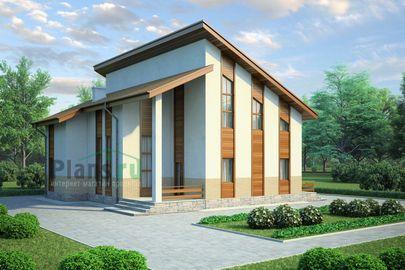 Проект двухэтажного дома 13x14 метров, общей площадью 205 м2, из керамических блоков, со вторым светом, c котельной и кухней-столовой