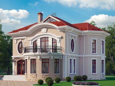 Проект двухэтажного дома 13x15 метров, общей площадью 197 м2, из кирпича, c террасой, котельной и кухней-столовой