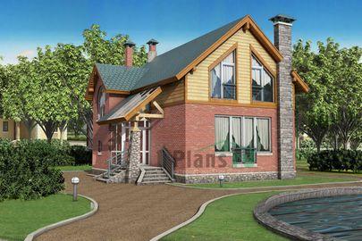 Проект двухэтажного дома 13x8 метров, общей площадью 128 м2, из газобетона (пеноблоков), c террасой