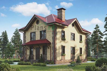 Проект двухэтажного дома 13x8 метров, общей площадью 145 м2, из керамических блоков, c котельной