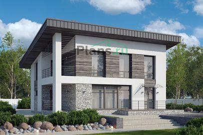 Проект двухэтажного дома 13x9 метров, общей площадью 156 м2, из керамических блоков, c террасой, котельной и кухней-столовой