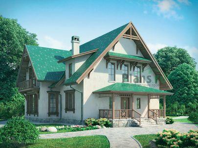 Проект двухэтажного дома 14x12 метров, общей площадью 192 м2, из керамических блоков, c террасой, котельной и кухней-столовой