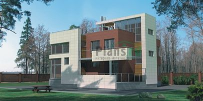 Проект двухэтажного дома 14x13 метров, общей площадью 221 м2, из керамических блоков, со вторым светом, c котельной и кухней-столовой