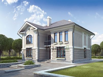 Проект двухэтажного дома 14x16 метров, общей площадью 233 м2, из газобетона (пеноблоков), c котельной и кухней-столовой