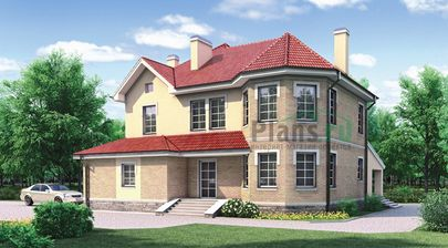 Проект двухэтажного дома 15x11 метров, общей площадью 231 м2, из керамических блоков, c гаражом и котельной