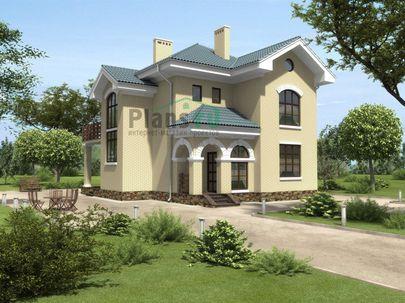 Проект двухэтажного дома 15x12 метров, общей площадью 156 м2, из керамических блоков, c котельной