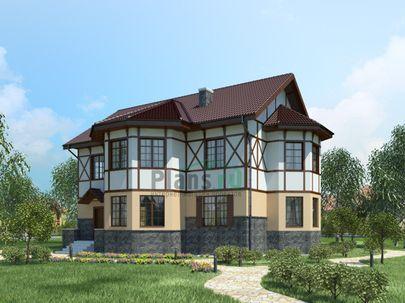 Проект двухэтажного дома 15x12 метров, общей площадью 209 м2, из газобетона (пеноблоков), c котельной и кухней-столовой