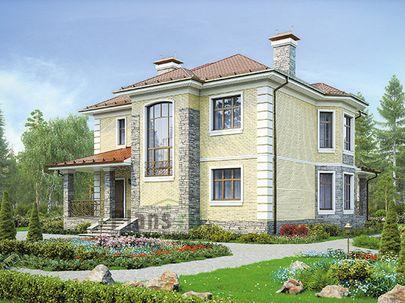 Проект двухэтажного дома 15x12 метров, общей площадью 209 м2, из керамических блоков, c котельной и кухней-столовой