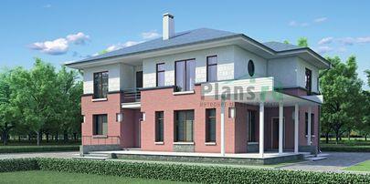 Проект двухэтажного дома 15x12 метров, общей площадью 211 м2, из газобетона (пеноблоков), c террасой, котельной и кухней-столовой