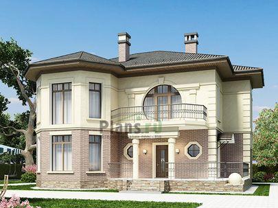 Проект двухэтажного дома 15x12 метров, общей площадью 215 м2, из керамических блоков, c террасой, котельной и кухней-столовой